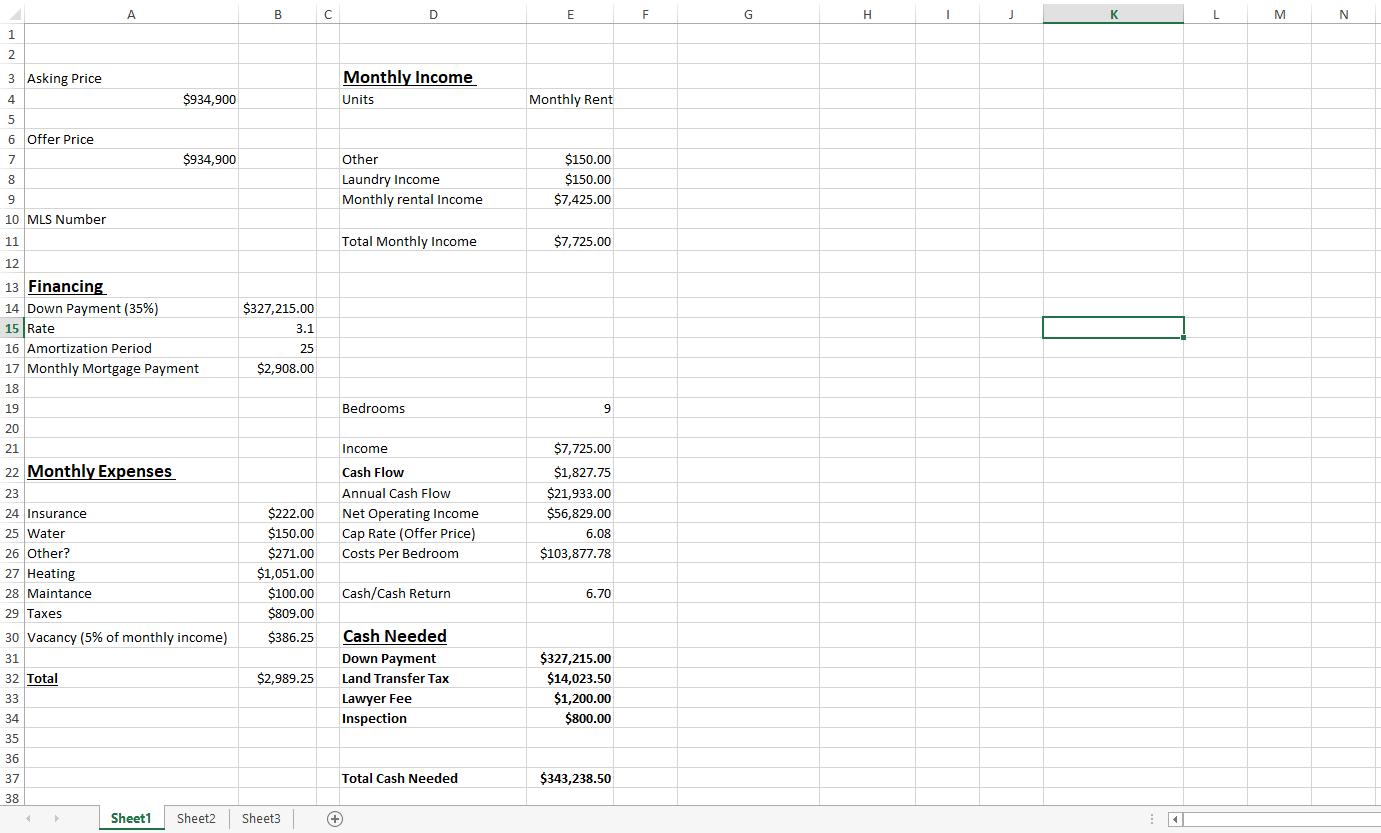 cash flow properties numbers